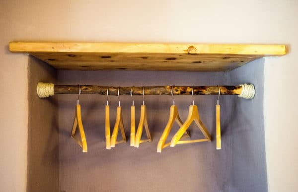Clothes hangers handcrafted - bedroom guest house pragelato - sestriere