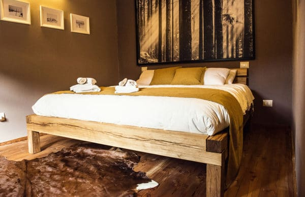 Bedroom charme holiday apartment in Pragelato Sestriere - Luxury holidays - King size bed