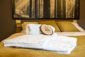 Towels for guests - Bedroom holiday apartment Pragelato Sestriere