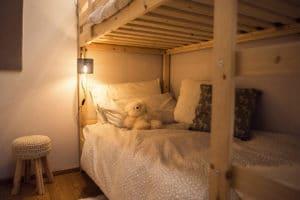 Letto camera per bambini - Soggiorno in famiglia a Pragelato - Sestriere