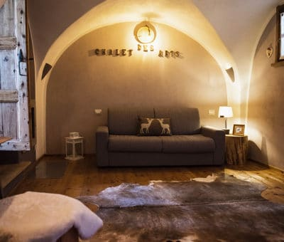 Living room holiday apartment in Pragelato - Sestriere
