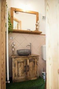 Bagno artistico in stile floreale - Appartamento di lusso a Pragelato - Sestriere
