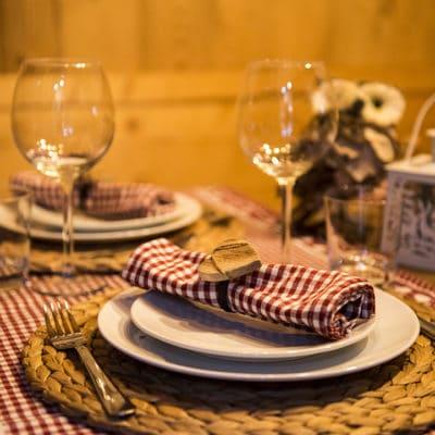 Cucina in stile alpino di montagna in chalet a Pragelato - Sestriere